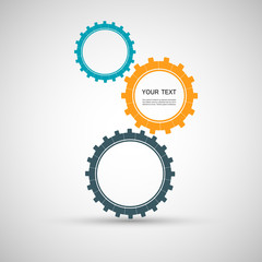 Vector color design concept gears