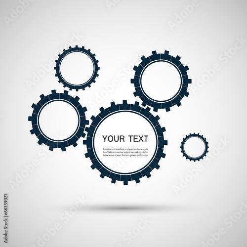 Vector color design concept gears
