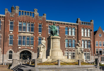 Monument to Jacobus Henricus van 't Hoff in Rotterdam, Netherlan