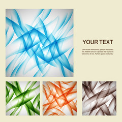 Set of vector abstract line background EPS10