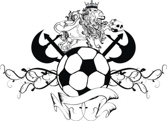 lion heraldic coat of arms tattoo soccer
