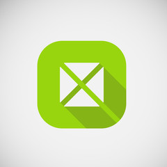 Modern trendy square icon. Vector eps10