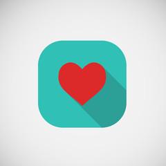 Vector flat Icon heart eps10