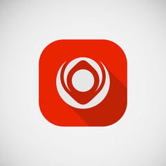 Abstract creative flst icon eps