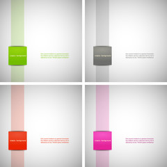 Set of simple backgrounds with colored dies, eps