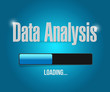loading data analysis illustration design