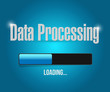 loading data processing illustration design