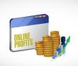 online profits concept illustration design