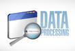 data processing browser illustration design