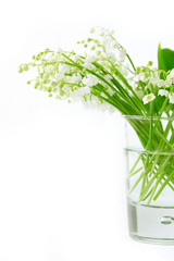 Lily of valley in glass