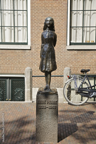 Foto op Canvas Amsterdam Anne Frank in Amsterdam