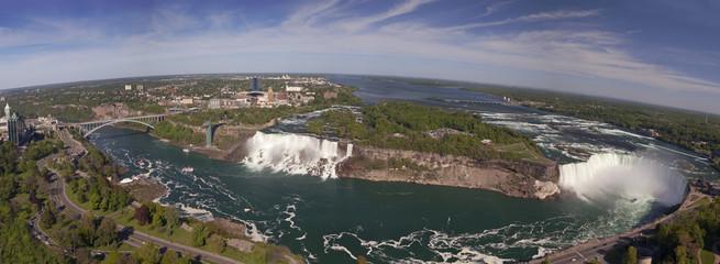 Panorama of Niagara Falls, aerial view, Canada