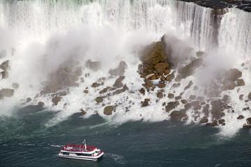 American Falls and cruise boat, Niagara, Canada
