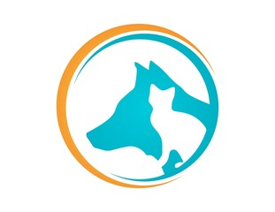 pet care logo,cat dog symbol,animal global service