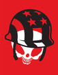 Постер, плакат: Skull with Hat Vector Clipart Design Illustration