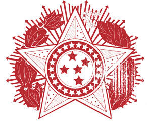 Emblem Badge Star Vector Clipart Design