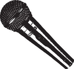 Microphone Mic Vector Clipart Design