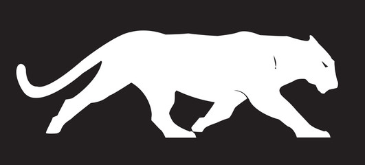 Panther Silhouette Vector Clipart Design