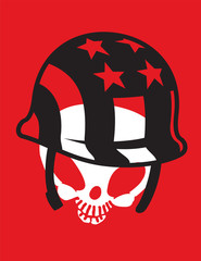 Skull with Hat Vector Clipart Design Illustration