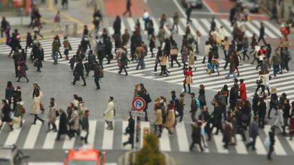 City Pedestrian Traffic Shibuya Tilt Shift