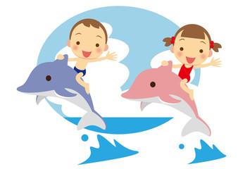 イルカと子ども