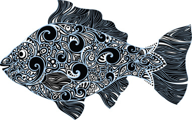 Fish with a pattern
