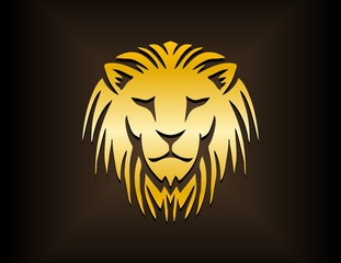 logo lion head icon silhouette,cat carnivore symbol