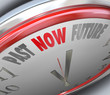 Past Now Present Future Time Clock Forecast Today Tomorrow