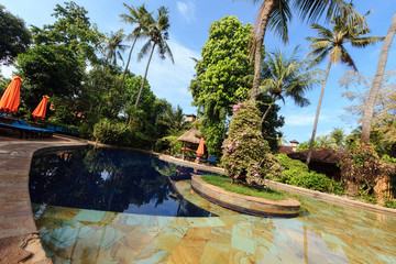 Pool inside a tropical garden © 4th Life Photography