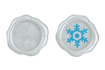 封蝋セット 雪 結晶