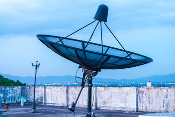 Satellite Dish on the Rooftop