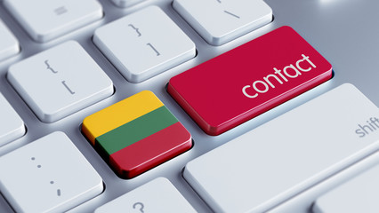 Lithuania Contact Concept