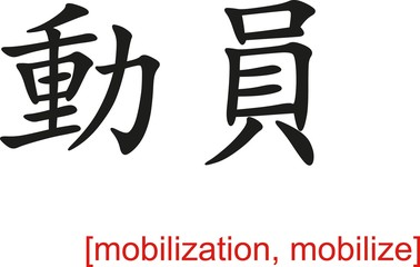 Chinese Sign for mobilization, mobilize