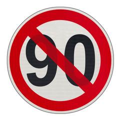 fin de la vitesse à 90 km/h sur routes