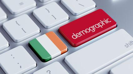 Ireland Demographic Concept.