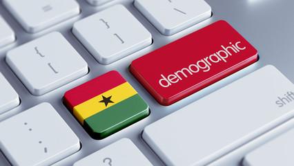 Ghana Demographic Concept.