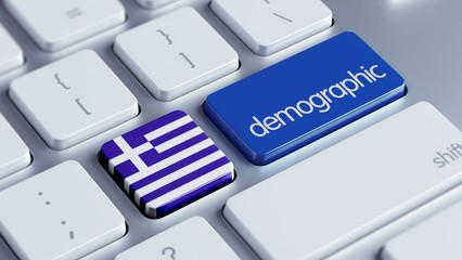 Greece Demographic Concept.