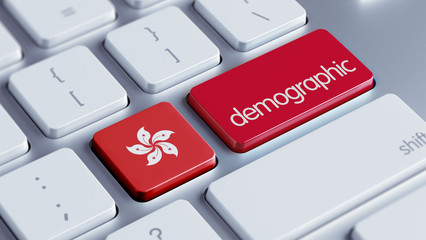 Hong Kong Demographic Concept.