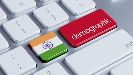 India Demographic Concept.