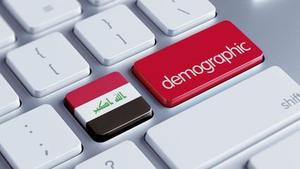 Iraq Demographic Concept.