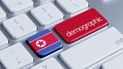 North Korea Demographic Concept.