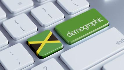 Jamaica Demographic Concept.