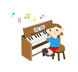 オルガンを弾く子供