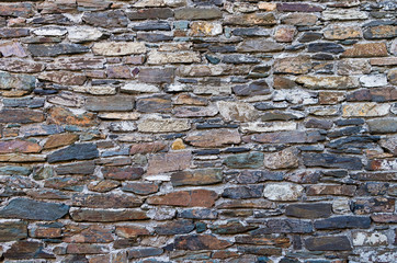 Stone wall in Parthenonas village, Chalkidiki, Greece