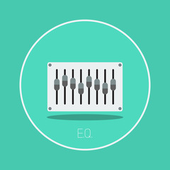 "E.Q.: Vector ""equalizer"" icon flat design"