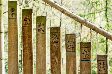 Buddhist chimes in the eastern garden
