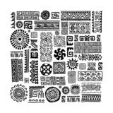 Ethnic handmade ornament for your design - 66372225