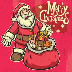 vintage style santa greeting christmas