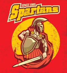 vintage spartan mascot