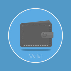 "Wallet : Vector ""wallet"" icon flat design"